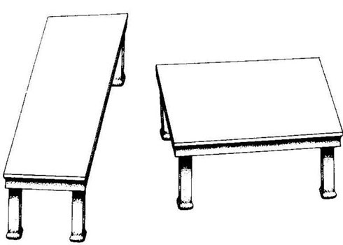 Tables visual illusion