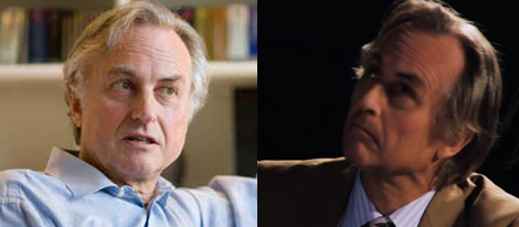 Richard Dawkins before and after he got bitten